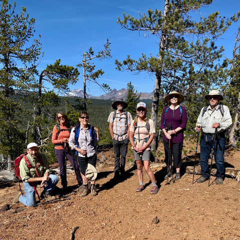 Official CONC Hikes Resume – CONC President Jerry Sebestyen Leads Hikers up XC Ski Trails from Swampy Snow Park to Vista Butte